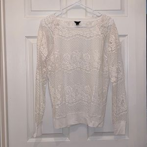 And Taylor lace sweatshirt top
